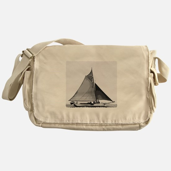 Chesapeake Bay Skipjack Oyster Boat Messenger Bag