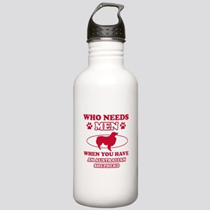Australian Shepherd mommy designs Stainless Water
