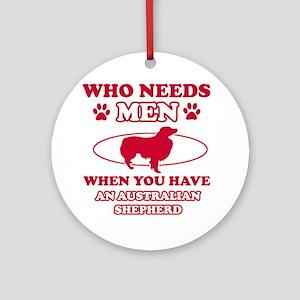Australian Shepherd mommy designs Ornament (Round)