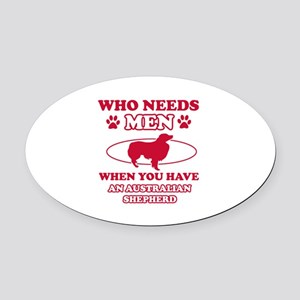 Australian Shepherd mommy designs Oval Car Magnet