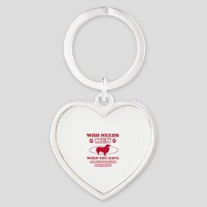Australian Shepherd mommy designs Heart Keychain