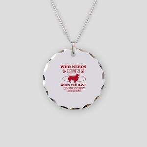 Australian Shepherd mommy designs Necklace Circle
