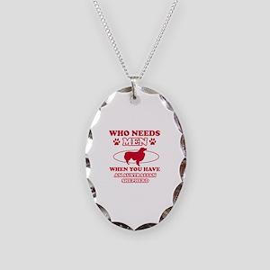 Australian Shepherd mommy designs Necklace Oval Ch