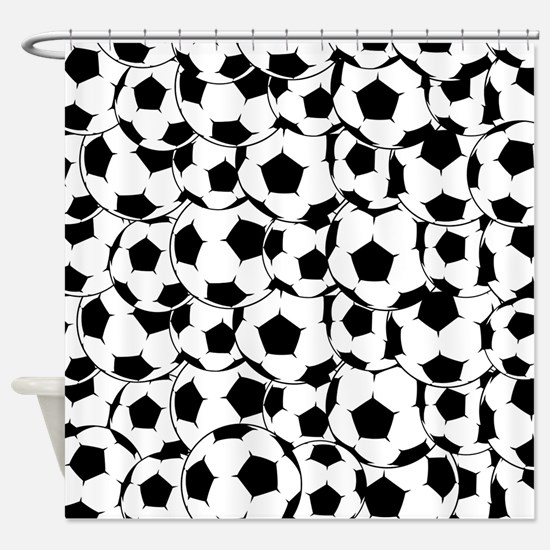 Soccer Football Shower Curtain