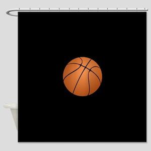 Black Basketball Shower Curtain