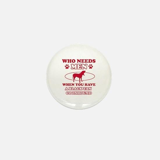 Black & Tan Coonhound mommy designs Mini Button