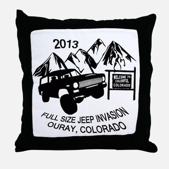 Ouray FSJ Invasion 2013 transparent Throw Pillow