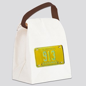 Bahamas License Plate Canvas Lunch Bag