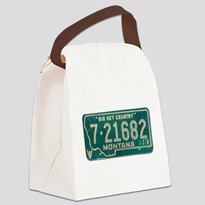 1974 Montana License Plate Canvas Lunch Bag