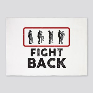 Fight Back 5'x7'Area Rug