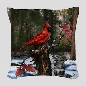 Cardinal Woven Throw Pillow