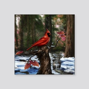 "Cardinal Square Sticker 3"" x 3"""