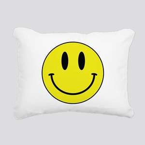 Keep Calm And Be Happy Rectangular Canvas Pillow