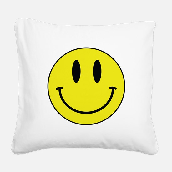 Keep Calm And Be Happy Square Canvas Pillow
