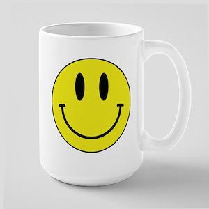 Keep Calm And Be Happy Large Mug