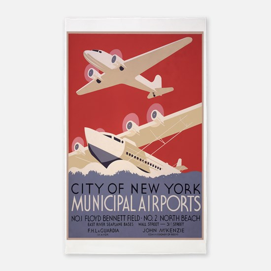 New York Airport 3'x5' Area Rug