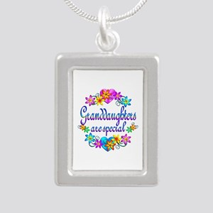 Granddaughters are Special Silver Portrait Necklac