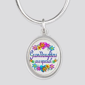 Granddaughters are Special Silver Oval Necklace
