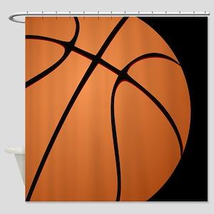 Big Basketball Shower Curtain