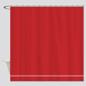 Solid Red Shower Curtain