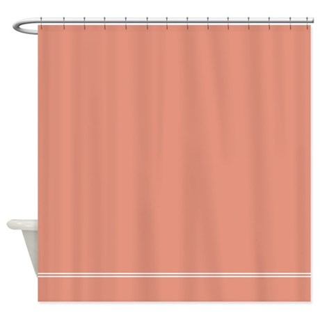 Attrayant Coral Salmon Pink Shower Curtain