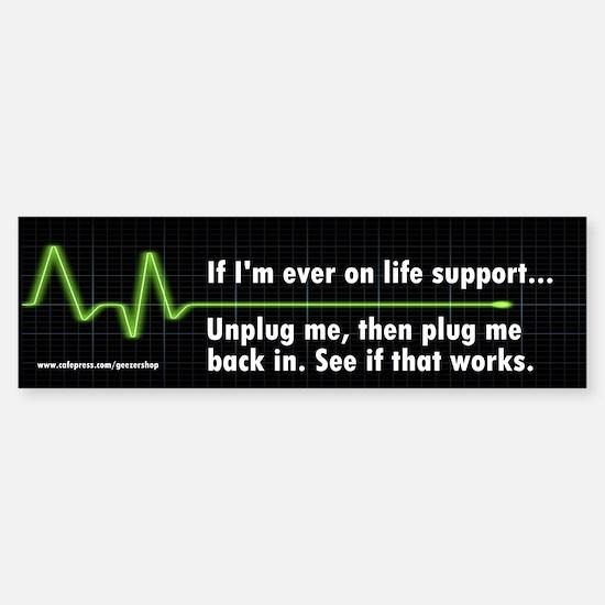 Life Support Bumper Car Car Sticker