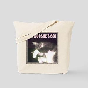 Funny 60th Birthday (Cat) Tote Bag