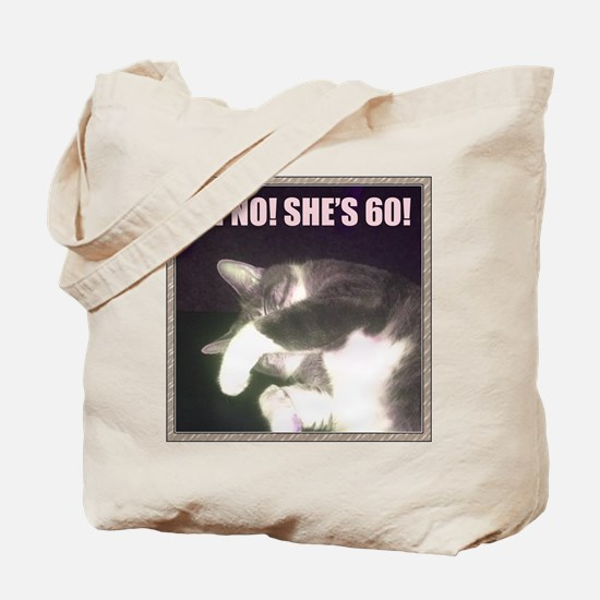 Funny 60th Birthday (Cat) Tote Bag