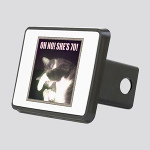 Funny 70th Birthday (Cat) Rectangular Hitch Cover
