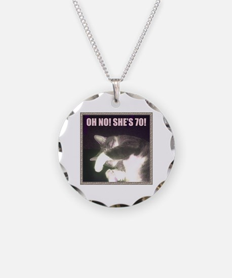 Funny 70th Birthday (Cat) Necklace