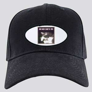 Funny 70th Birthday (Cat) Black Cap