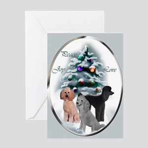 Poodle Christmas Greeting Card