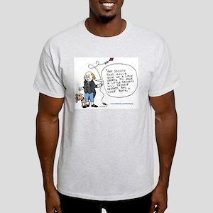 Ben Franklin Stop SBL Ash Grey T-Shirt
