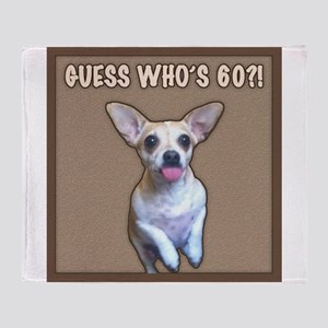 60th Birthday Humor (Dog) Throw Blanket