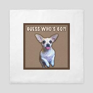 60th Birthday Humor (Dog) Queen Duvet
