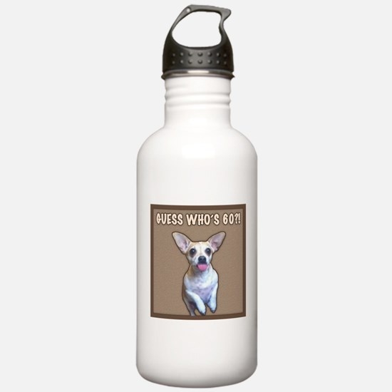 60th Birthday Humor (Dog) Water Bottle