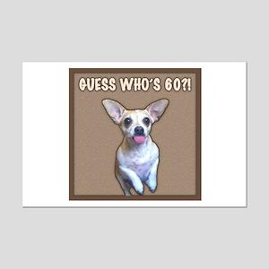 60th Birthday Humor (Dog) Mini Poster Print