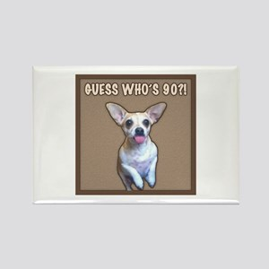 90th Birthday Humor (Dog) Rectangle Magnet