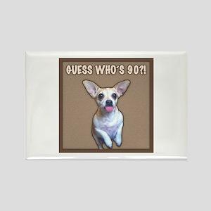 90th Birthday Humor (Dog) Rectangle Magnet