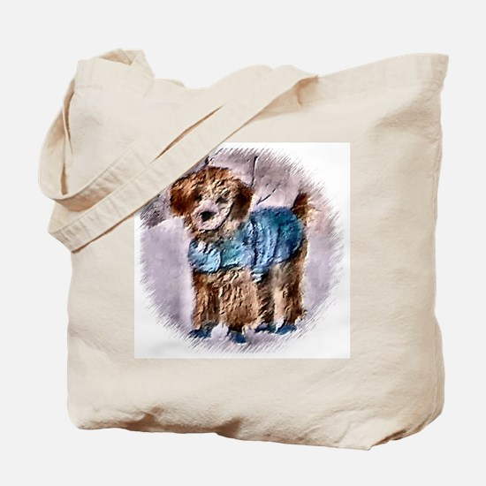 Poodle Christmas Tote Bag