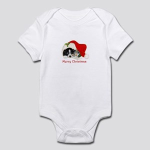 Christmas Border Collie puppy and kitten Infant Bo