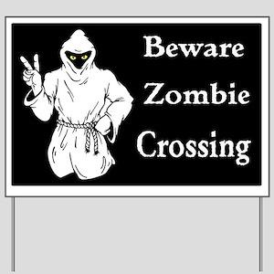 Beware Zombie Crossing Yard Sign