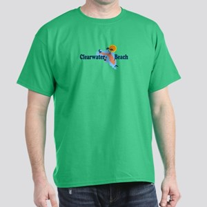 Clearwater FL - Map Design. Dark T-Shirt