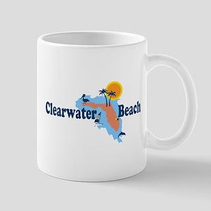 Clearwater FL - Map Design. Mug