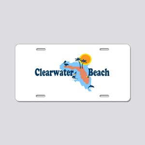 Clearwater FL - Map Design. Aluminum License Plate