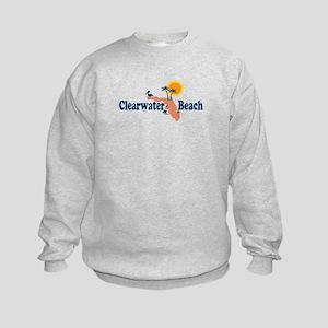 Clearwater FL - Map Design. Kids Sweatshirt