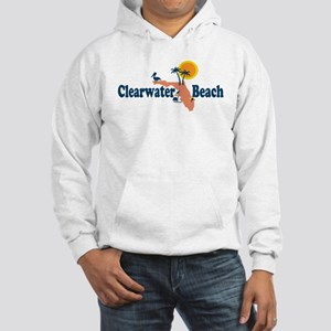 Clearwater FL - Map Design. Hooded Sweatshirt