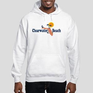 Clearwater FL - Map Design. Hooded Sweatshirt