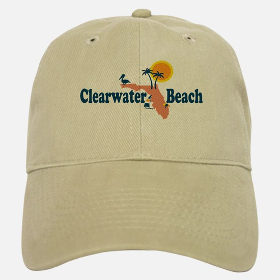 Clearwater FL - Map Design. Baseball Baseball Cap