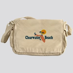 Clearwater FL - Map Design. Messenger Bag